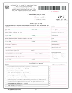 2012-2019 Form 400 ITR Fill Online, Printable, Fillable