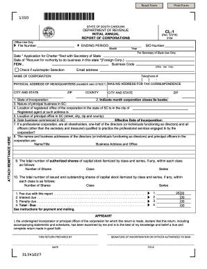 20162018 Form SC DoR CL1 Fill Online Printable Fillable Blank  PDFfiller
