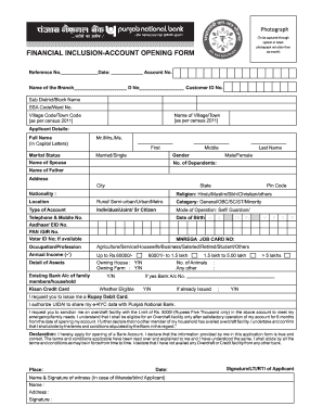 Financial Inclusion Account Opening Form Fill Online Printable Fillable Blank Pdffiller