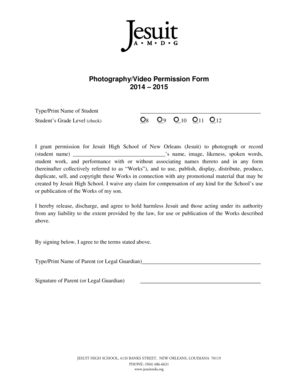 20 Printable video permission form for students Templates