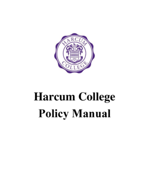 Fillable Online Harcum College Policy Manual Fax Email