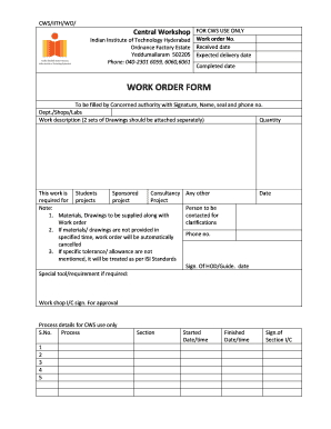 Microsoft word has several features you can customize, including templates that represent your personalized stationery. 13 Printable Work Order Format Doc Templates Fillable Samples In Pdf Word To Download Pdffiller