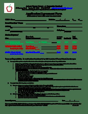 Fillable Online amherstnurseryschool Application/Agreement