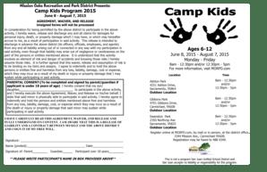 Fillable Online Camp Kids Registration Flyer b2015b