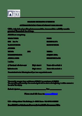 Fillable Online Accomodation form for Erasmus students