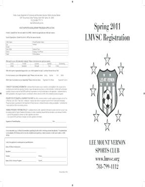 Fillable Online lmvsc YOUTH SPORTS SCHOLARSHIP PROGRAM