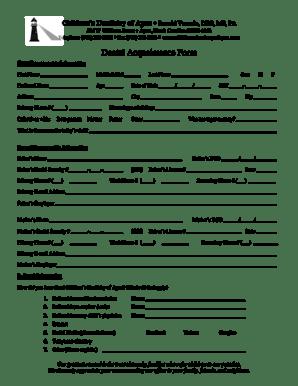 Fillable Online Childrens Dentistry of Apex Ronald Venezie