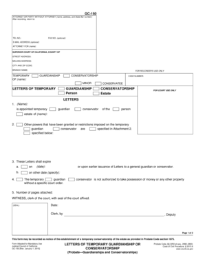 Temporary Guardianship Agreement Forms and Templates
