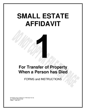 26 Printable Free Small Estate Affidavit Form Templates