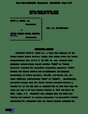 Fillable Online gpo DAVID W. NOBLE, JR. ) ) Plaintiff