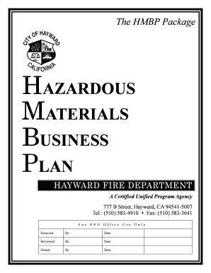Fillable Online hayward-ca Hazardous Materials Business