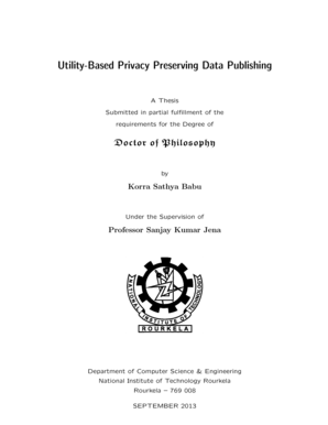 Fillable Online Utility-Based Privacy Preserving Data