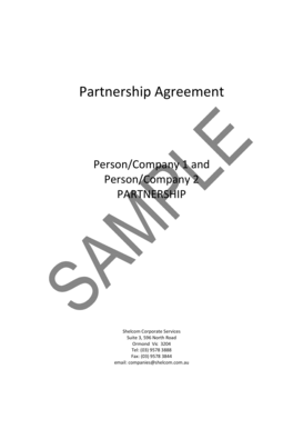 26 Printable Sample Partnership Agreement Forms and