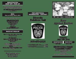 Fillable Online Peel Regional Police, Race Against Racism