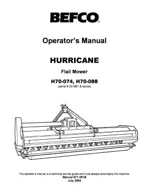 Fillable Online Hurricane H70 74 88 Flail Mower.pdf