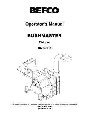 Fillable Online BM6-800 Bush Master Chipper 11-2009.pdf