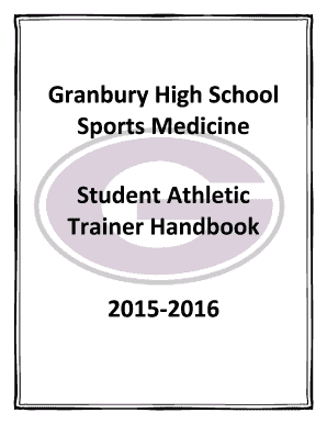 Fillable Online Student Athletic Trainer Handbook