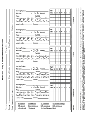 boy scout medical form part a b and c - Edit, Print, Fill Out ...