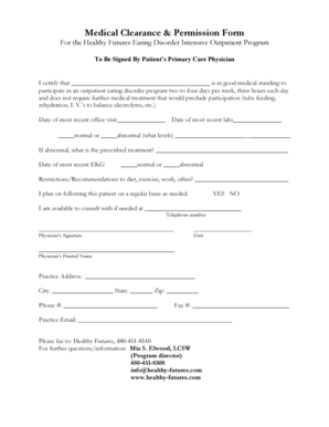 7 Printable medical clearance form for employment