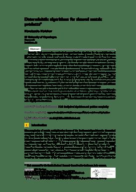 Fillable Online Deterministic algorithms for skewed matrix