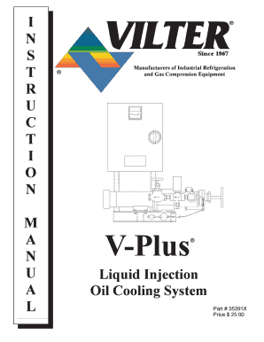 Fillable Online V-Plus Liquid Injection Oil Cooling System