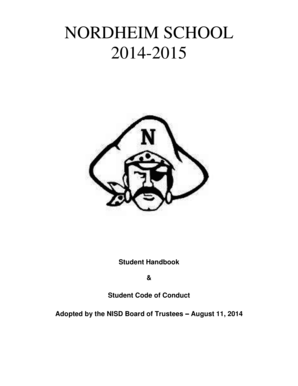 Fillable Online support nordheimisd 2014-2015 Student
