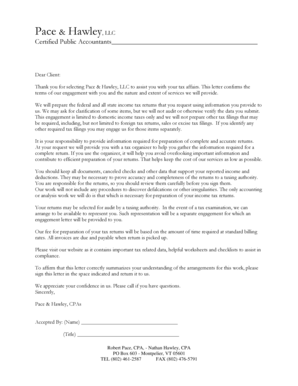 engagement letter template for accountants Forms