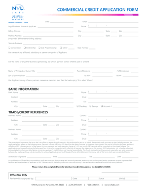 122 Printable Business Credit Application Forms and