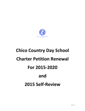 Fillable Online Charter Petition Renewal 2015-2020 and