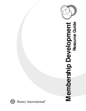 Fillable Online clubrunner Membership Development Resource