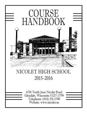 Fillable Online nicolet k12 wi NICOLET HIGH SCHOOL