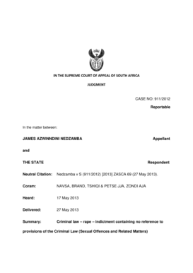 Fillable Online INTHESUPREMECOURTOFAPPEALOFSOUTHAFRICA