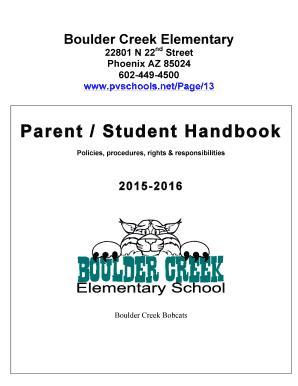 Fillable Online Boulder Creek Elementary ParentStudent