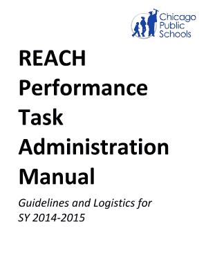 Fillable Online nctq REACH Performance Task Handbook