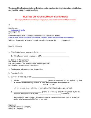 fillable online india business visa business letter letter of invitation travel the world visas visa application form fax email print