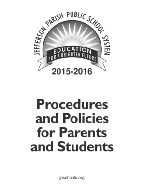 Fillable Online JPPSS b2015b-2016 Procedures and Policies