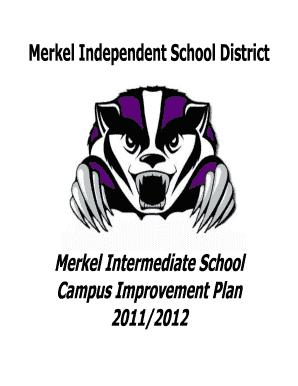 Fillable Online Merkel Intermediate School Comprehensive