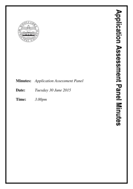 Fillable Online Application Assessment Panel of 30 June