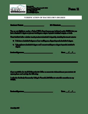 Fillable Online Verification of bachelor39s degree