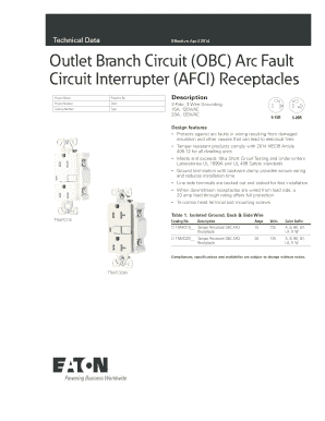 Fillable Online Outlet Branch Circuit OBC Arc Fault