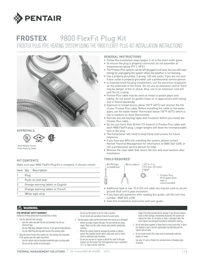 Fillable Online Frostex 9800 Installation Instructions