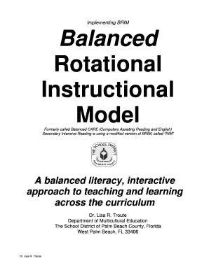 Fillable Online Balanced Rotational Instruction Model