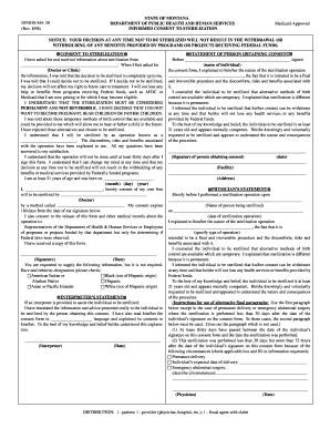 Fillable Online MA-38 Sterilization Form Fax Email Print
