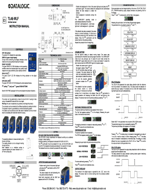 Fillable Online Datalogic TL46-WLF Contrast Sensor