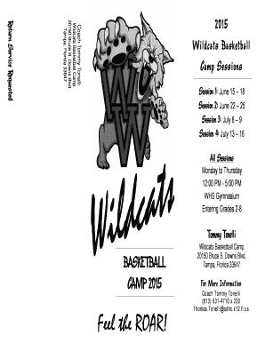 Fillable Online wharton mysdhc Wharton Basketball Camp