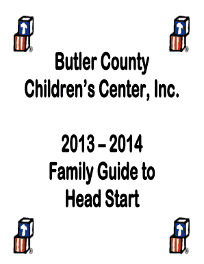 Fillable Online bcccinc Butler County Children39s Center