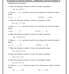 Comparing And Ordering Rational Numbers Worksheet Answer Key Pdf - Fill  Online [ 1024 x 770 Pixel ]
