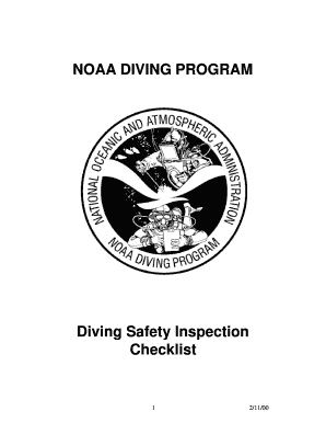 Fillable Online ndc noaa NOAA DIVING PROGRAM Diving Safety