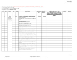 Fillable Online Bid Form for the Public Bidding of