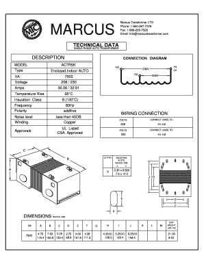 marcus 3 phase transformer wiring diagram car stereo kenwood fax 1 866 205 7526 fill online printable fillable blank 208v